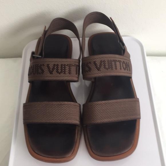 6e27b49adb0c Louis Vuitton Other - LOUIS VUITTON Mens Brown Monogram Sandals 8.5